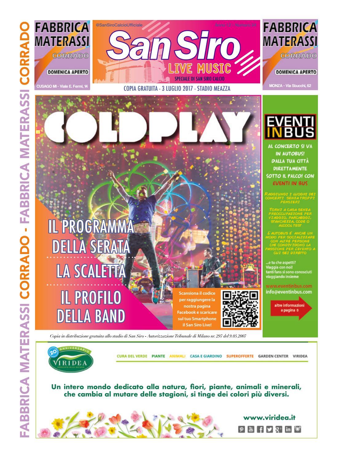 Corrado Materassi Cusago Prezzi.San Siro Live Music Coldplay By Fabrizio Saturno Issuu