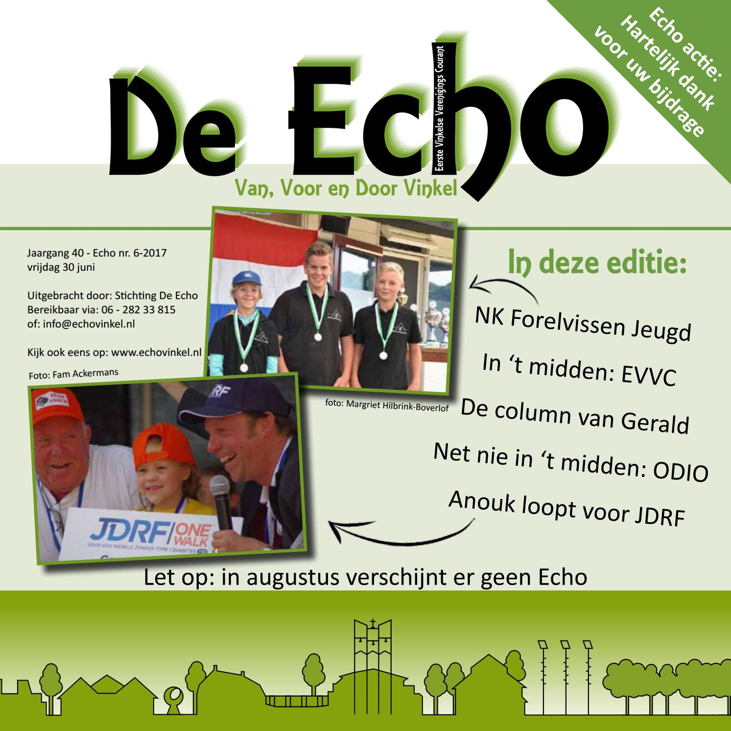 De Echo - juni 2017 by Echo vinkel - issuu
