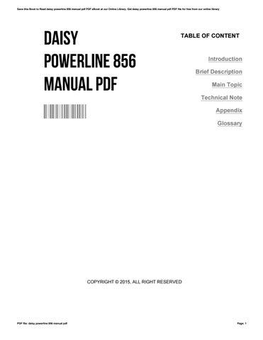Daisy Powerline 856 Manual Pdf By CarlosMichaud3816 Issuu