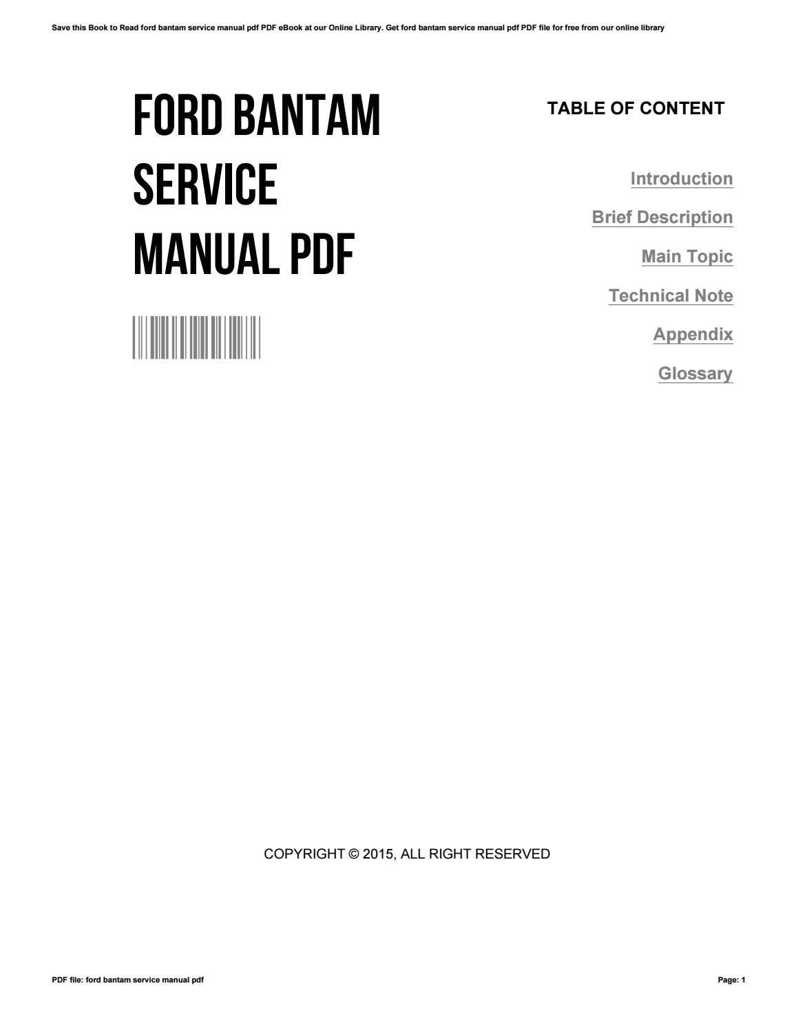Ford Bantam Manual M113a3 Starter Wire Diagram Array Service Pdf By Craiggonzales3464 Issuu Rh