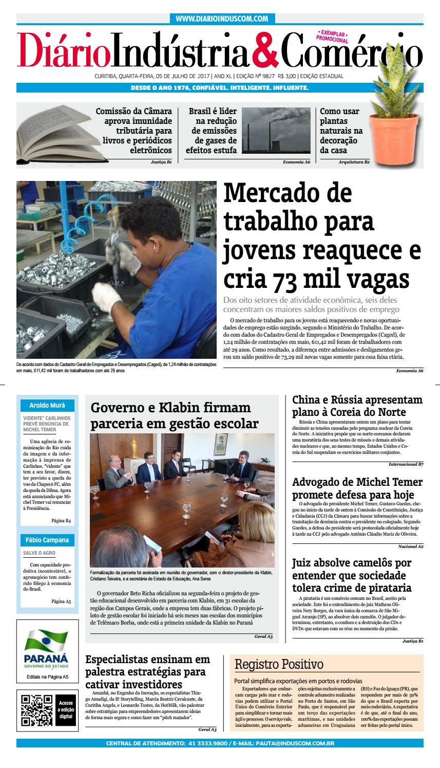 Diário Indústria Comércio - 05 de julho de 2017 by Diário Indústria    Comércio - issuu bc39c48c8ac38