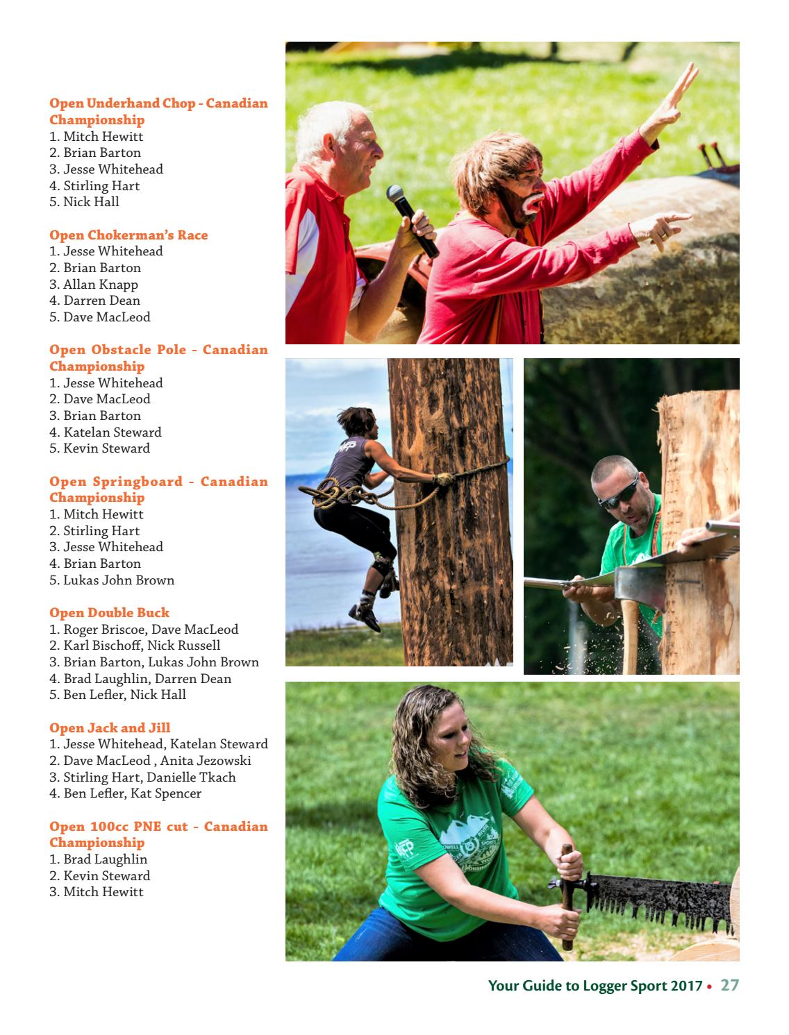 Guide to Powell River Logger Sports 2017 by Sean Percy - issuu