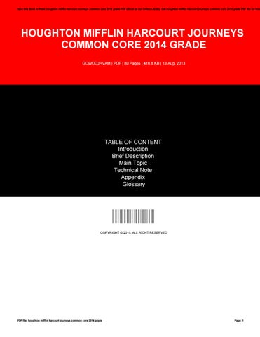 Houghton mifflin harcourt journeys common core 2014 grade by save this book to read houghton mifflin harcourt journeys common core 2014 grade pdf ebook at our online library get houghton mifflin harcourt journeys fandeluxe Image collections