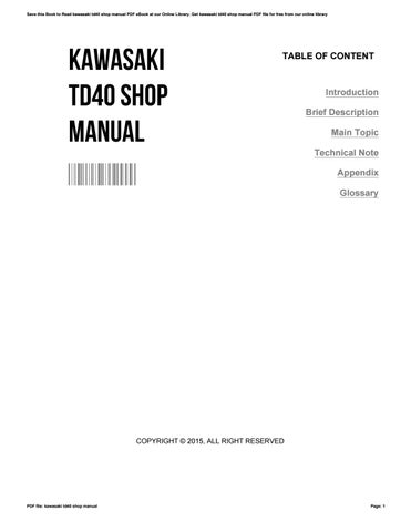 kawasaki td 40 manual how to and user guide instructions u2022 rh taxibermuda co International TD 40 Honda Pp TD40
