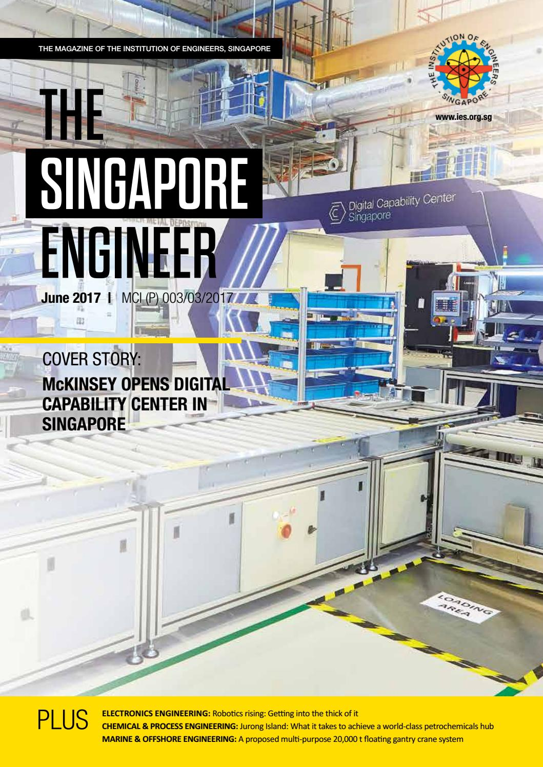 The Singapore Engineer June 2017 By Issuu Overhead Crane Wiring Diagram In Addition Solar Panel Regulator Charge