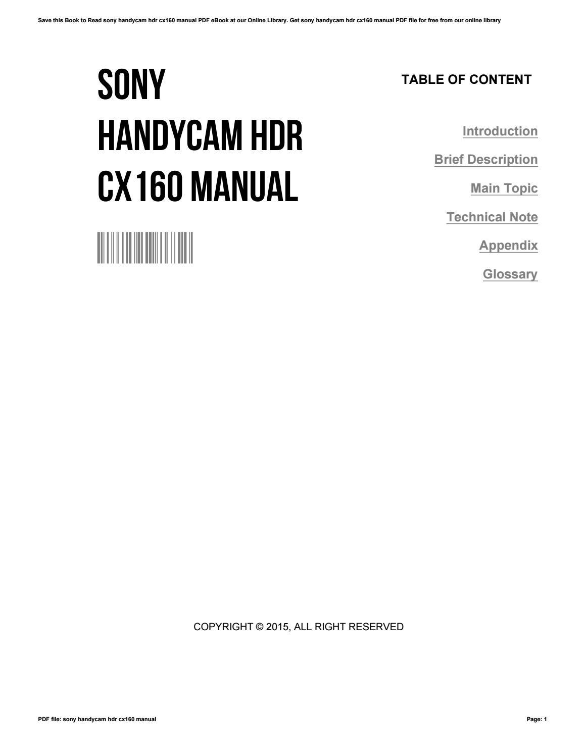 sony cx150 manual rh sony cx150 manual topmalawis de