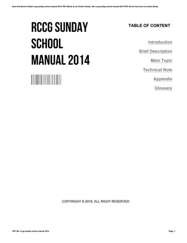 rccg sunday school manual 2014 by matthewgrays4350 issuu rh issuu com RCCG Welcome RCCG Praise Chapel Family