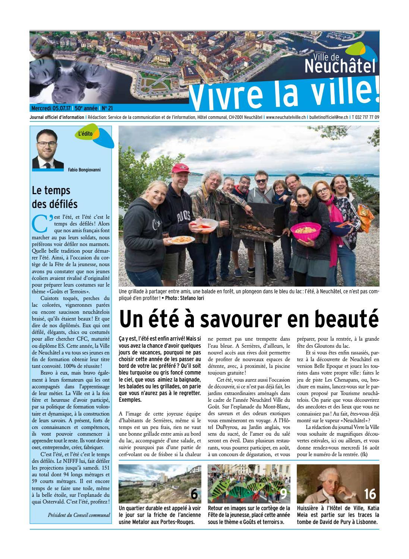 Vivre la ville 05 juillet 2017 by ville de neuch tel issuu for Piscine 05 juillet