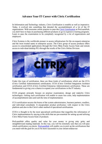 Advance your it career with citrix certification by Azure Training ...