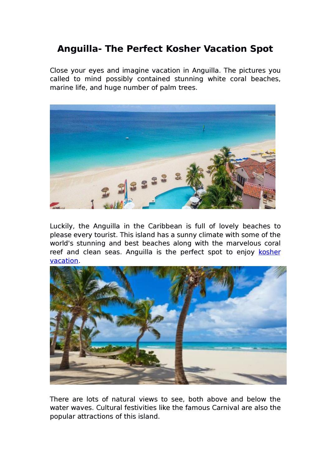 Anguilla the perfect kosher vacation spot by Kosher Anguilla