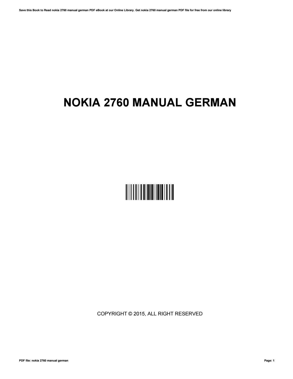 nokia 2760 manual german by marksmith28301 issuu rh issuu com USB Cable for Nokia 2760 Nokia 2720