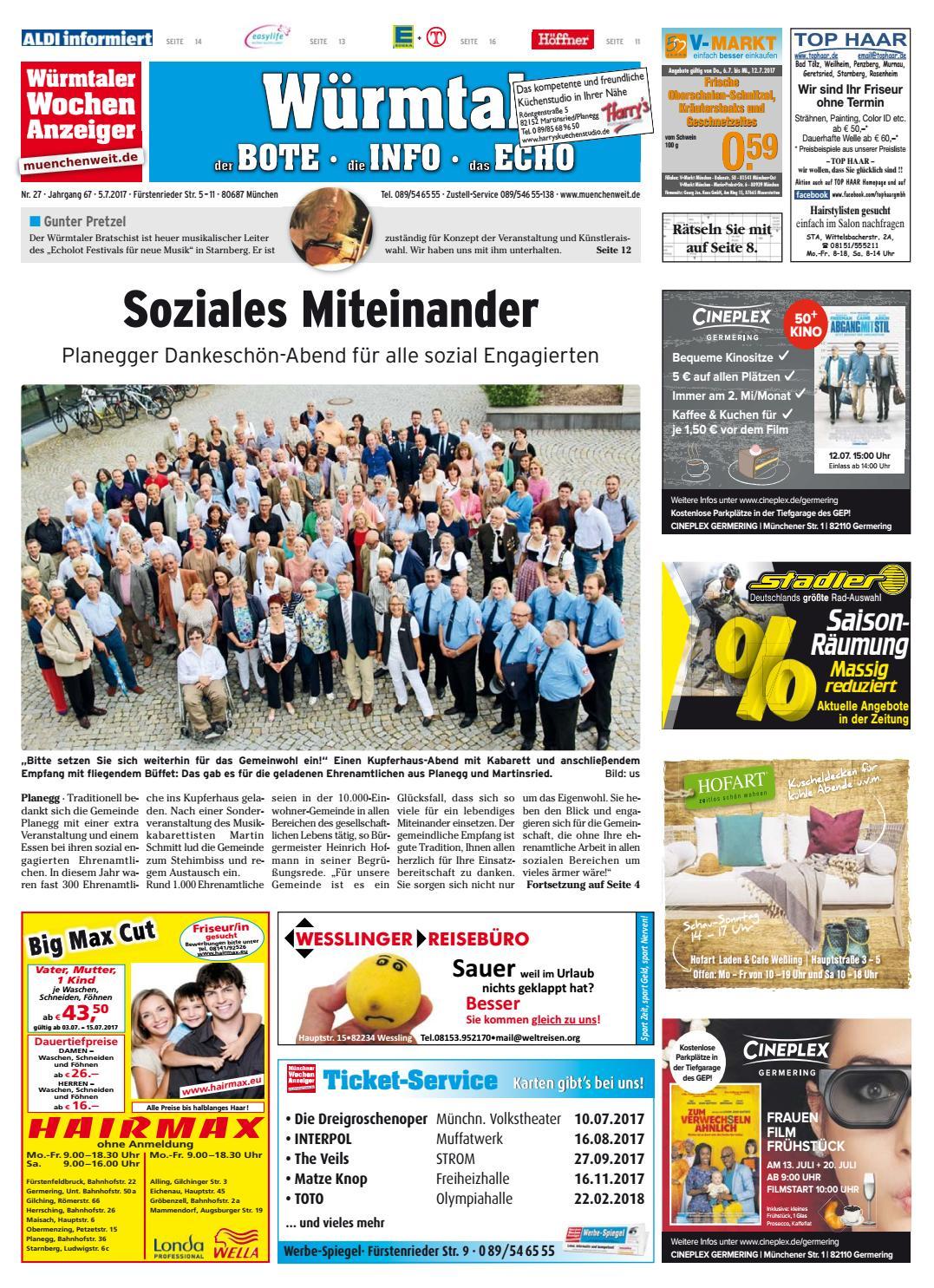 Friseur Martinsried kw 27 2017 by wochenanzeiger medien gmbh issuu