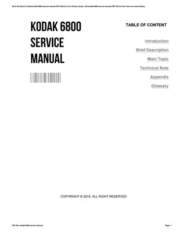 kodak 6800 service manual by shariwells2085 issuu rh issuu com kodak dryview 6800 laser imager service manual Service ManualsOnline