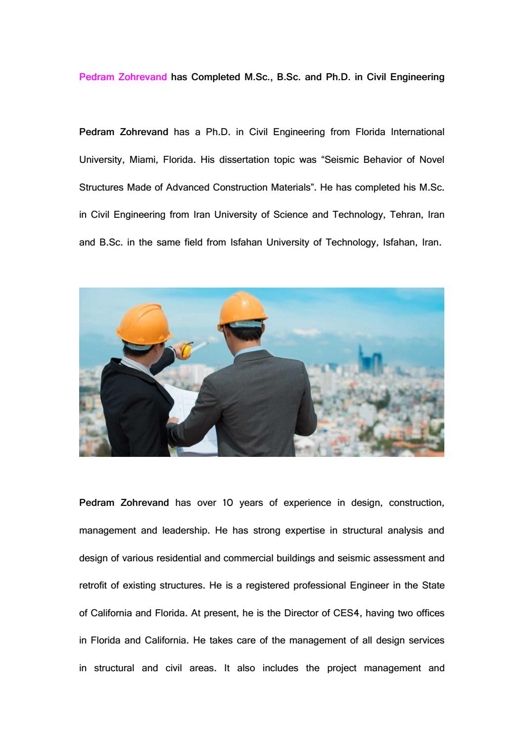 bsc civil engineering dissertation Browse and read civil engineering thesis (1979) ix hs9 american culture research paper ideas d apr 26, 2015 - 47 min - uploaded by dtudkwrite your bsc or msc thesis combining sharelatex and mendeley - duration 43 10 civil engineering masters theses collection the mission of the civil engineering program is to prepare students to.