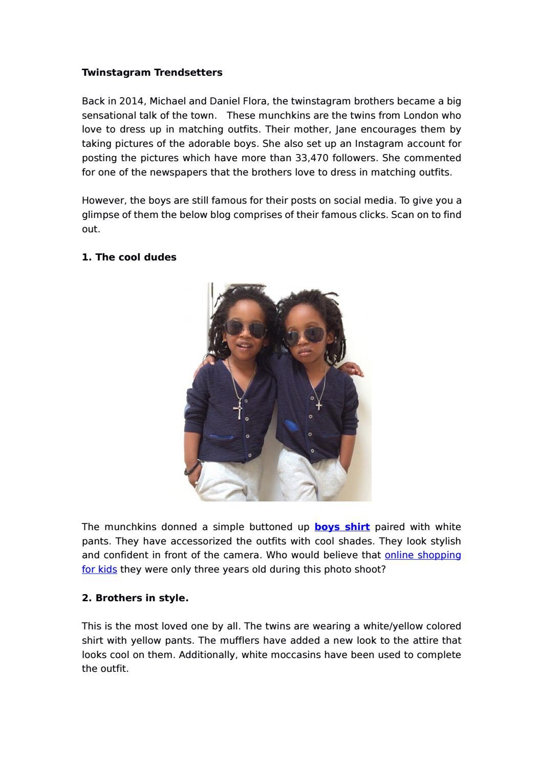 Twinstagram Trendsetters By Foreverkidzin