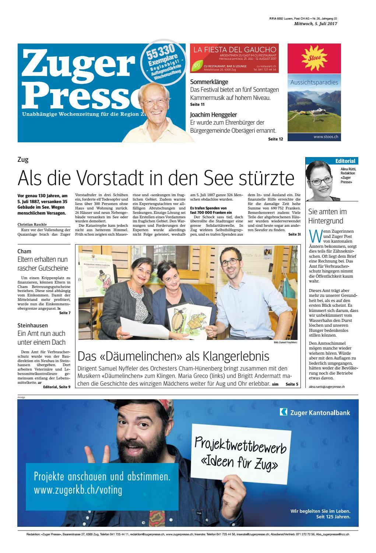 Zuger Presse 20170705 By Zuger Presse   Zugerbieter   Issuu