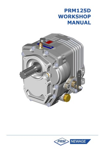 prm125 gearbox operators manual