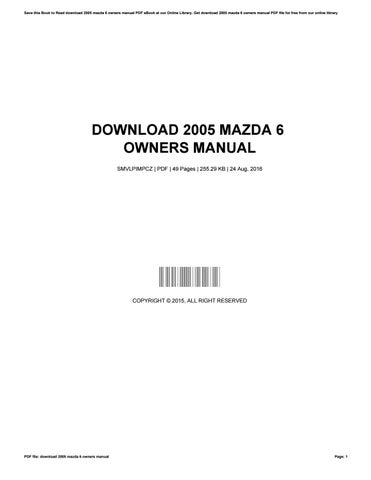 mazda 6 instruction manual free owners manual u2022 rh wordworksbysea com mazda 6 service manual 2007 mazda 6 user manual 2007