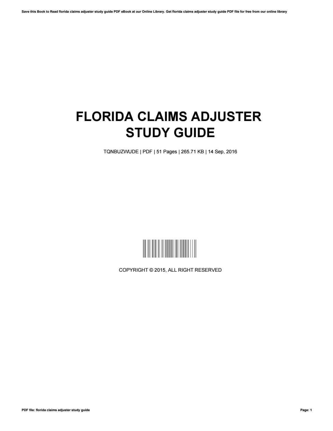 Florida adjusters study