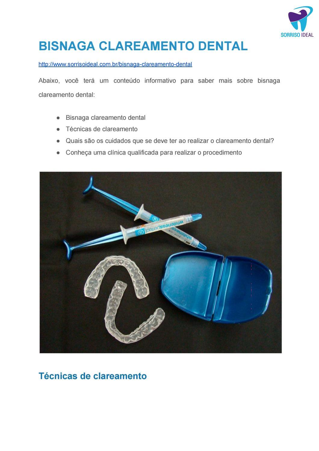 Bisnaga Clareamento Dental By Sorriso Ideal Issuu