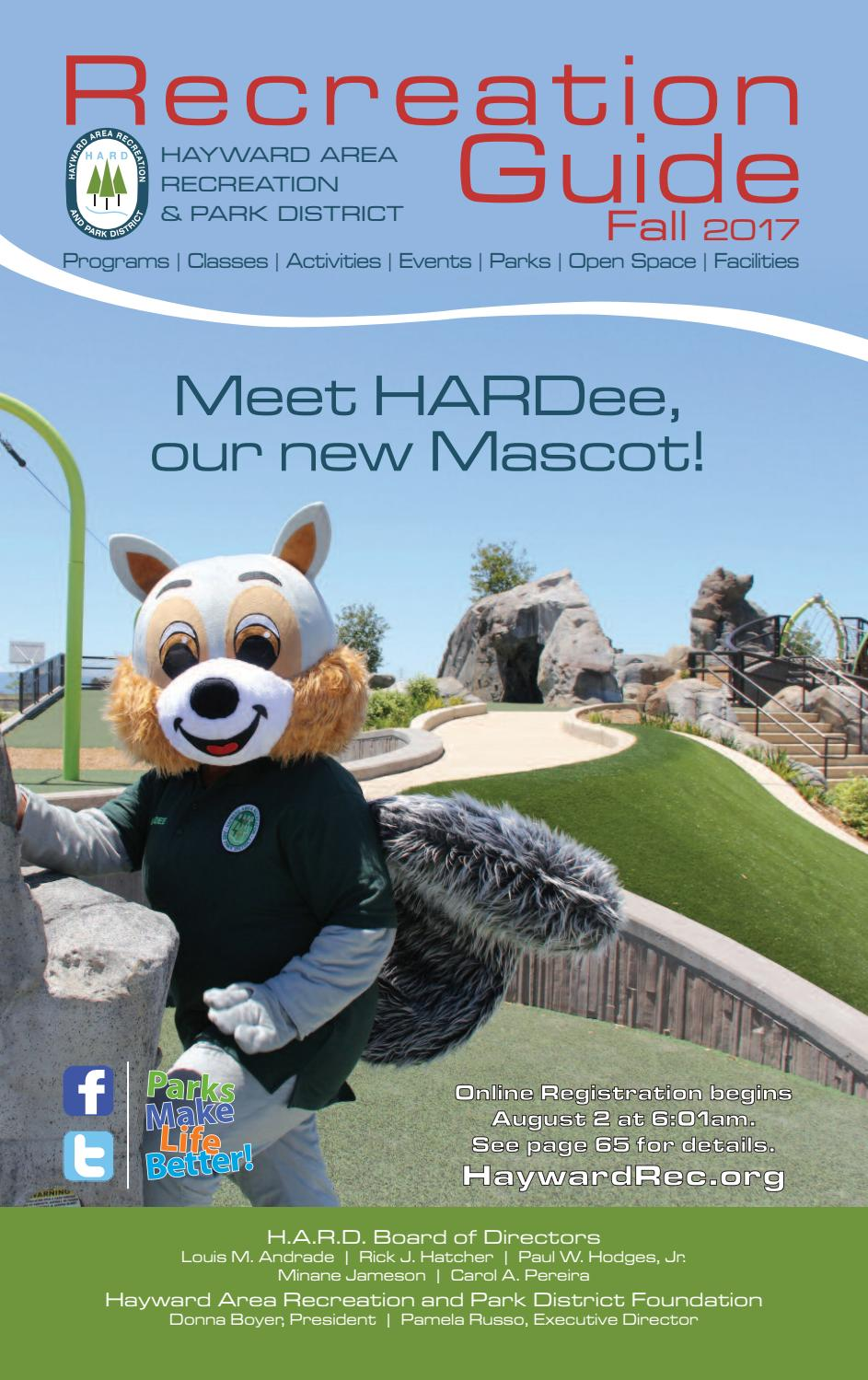 eda2d4a1905538 Hayward Area Recreation   Park District Fall 2017 Brochure by Nicole Roa -  issuu