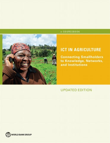 ICT in Agriculture (Updated Edition) by World Bank Group