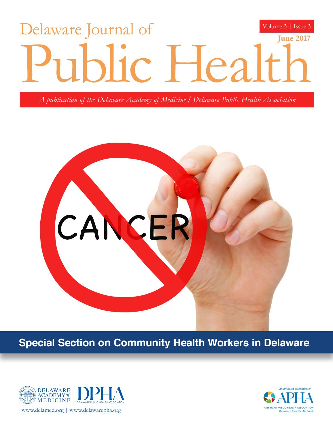 Delaware Journal of Public Health, Cancer Issue by Delaware Academy of  Medicine and the Delaware Public Health Association - issuu
