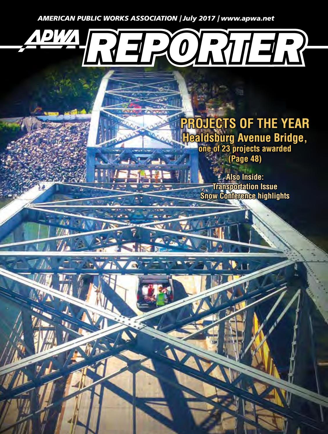 Apwa reporter july 2017 issue by american public works apwa reporter july 2017 issue by american public works association issuu kristyandbryce Choice Image