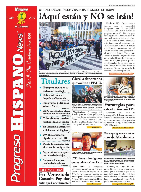 Progreso Hispano News Charlotte NC. Ed#14 07052017 by Progreso ...