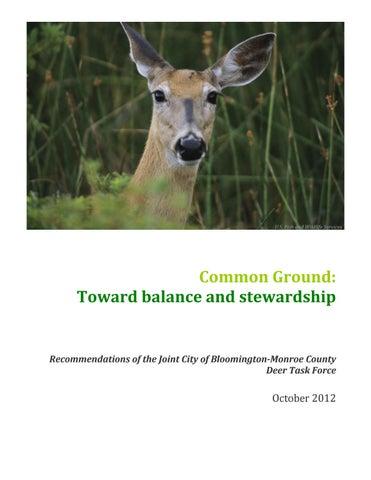 Common Ground Toward Balance And Stewardship By Bloomington