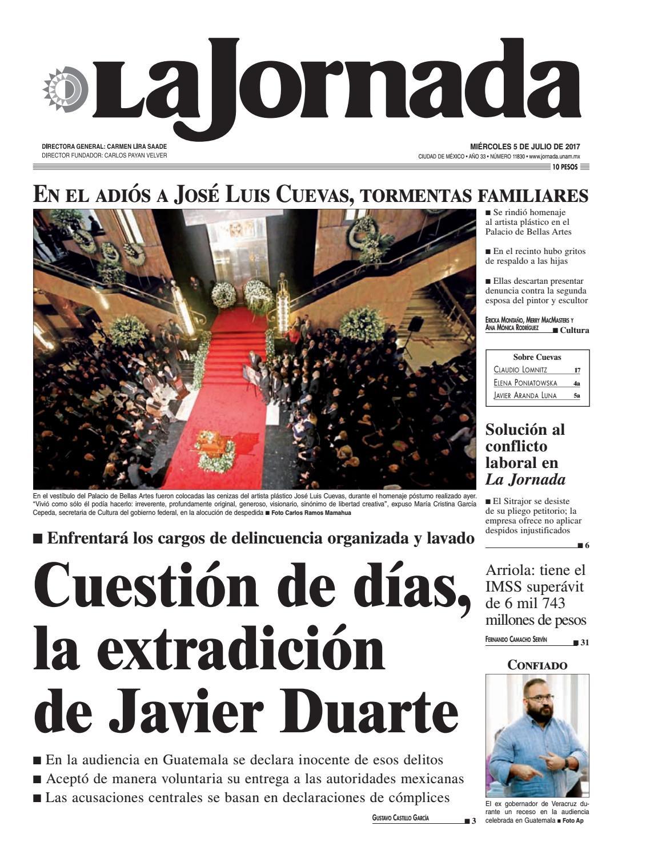 La Jornada 07 05 2017 By La Jornada Demos Desarrollo De Medios  # Vacantes Muebles Dico Guadalajara