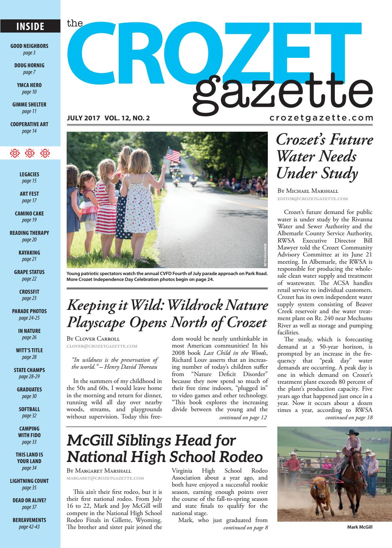 Crozet Gazette July 2017 by The Crozet Gazette - issuu