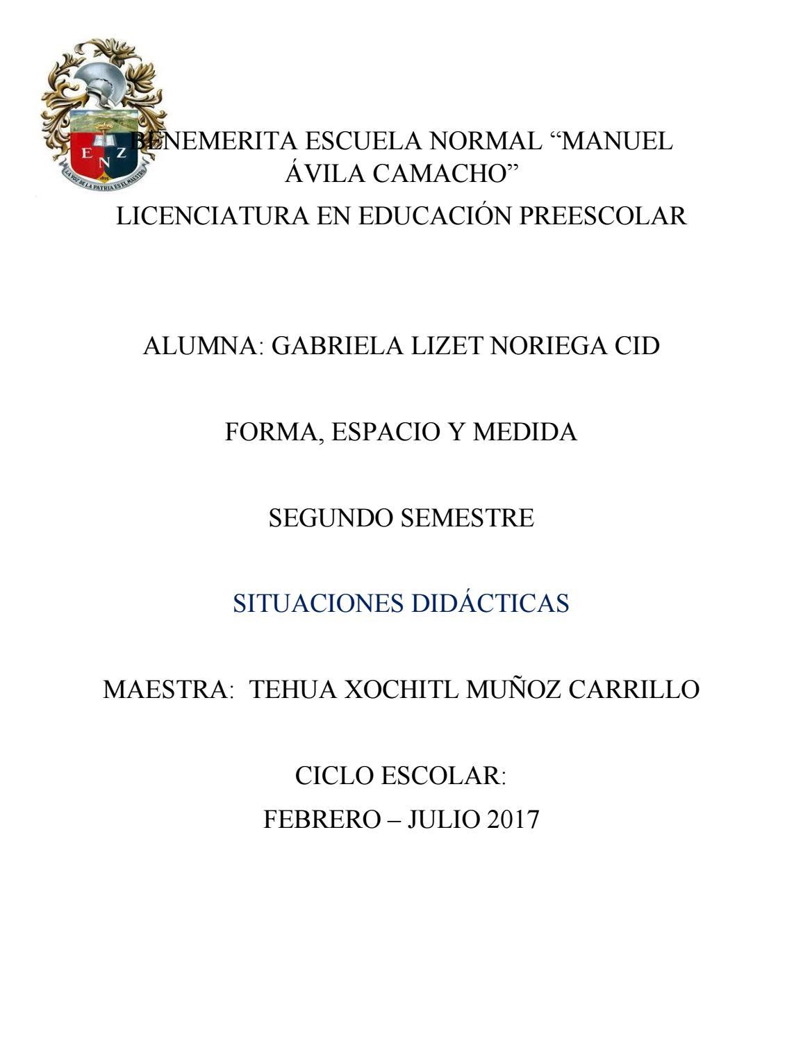 Forma Espacio Y Medida Situaciones Didácticas By Gaby Noriega Issuu