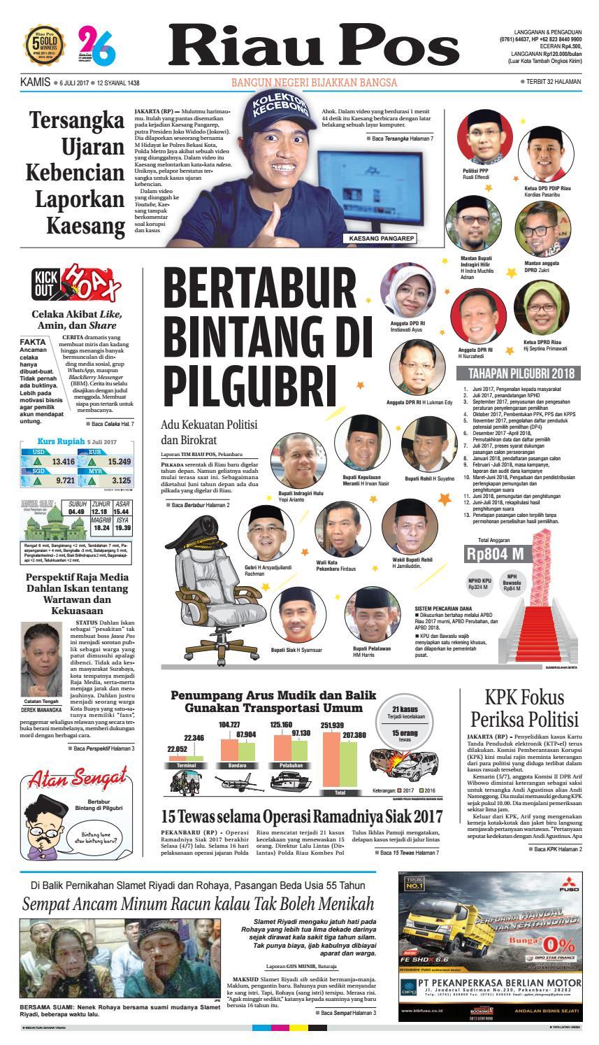 2017 07 06 By Riau Pos Issuu Tcash Vaganza 17 Samsung Adaptor Fast Charging Kualitas Original Putih