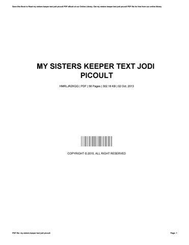 Sisters my pdf picoult jodi keeper