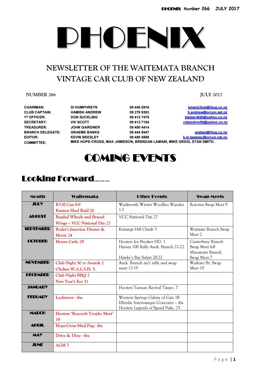 Waitemata VCC July 2017 by Vintage Car Club of New Zealand - issuu