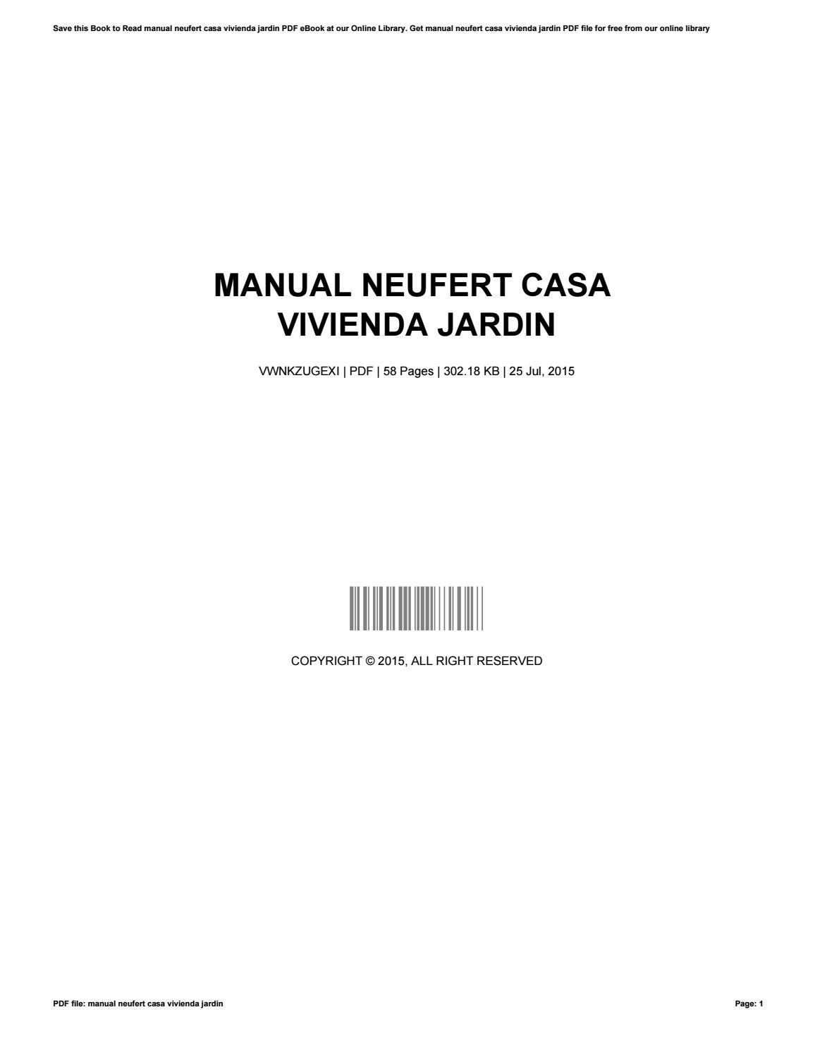 Manual Neufert Casa Vivienda Jardin By Martymccune46921 Issuu