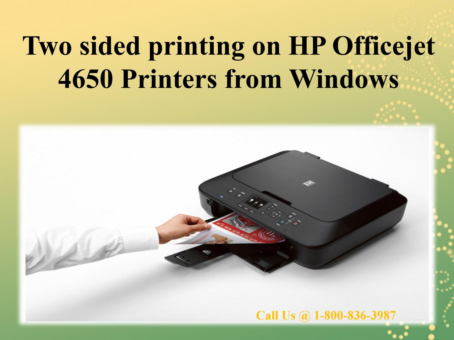 Two Sided Printing On Hp Officejet 4650 Printers From