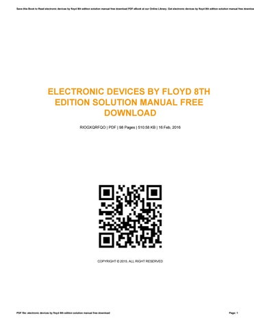 Electronic Devices Floyd Ebook