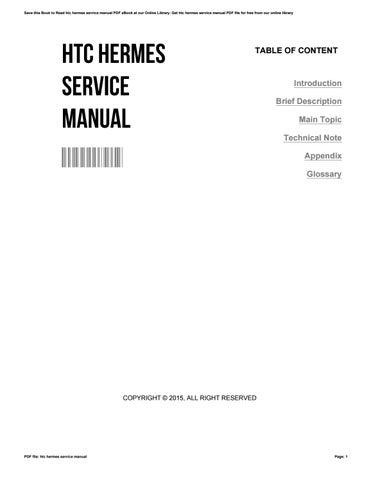 Htc hermes service manual by caroleastin3168 issuu.