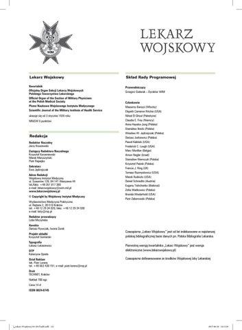 Lekarz Wojskowy 22017 By Medycyna Praktyczna Issuu
