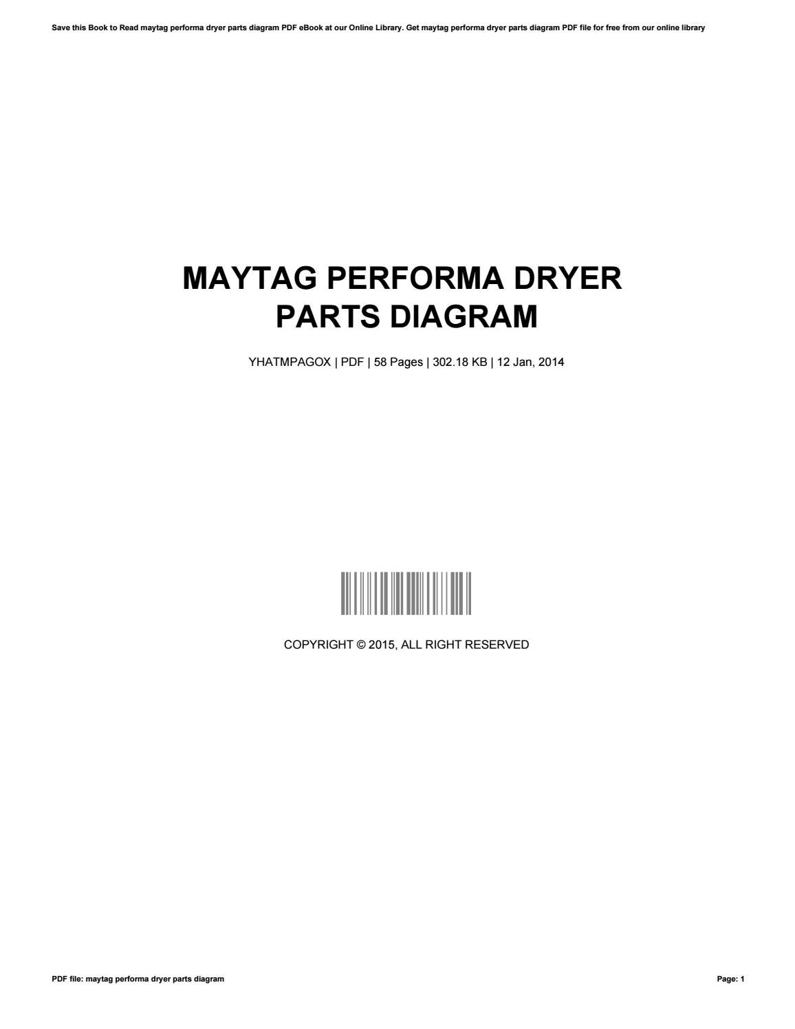 Maytag Performa Dryer Parts Diagram By Bradleygannaway1966