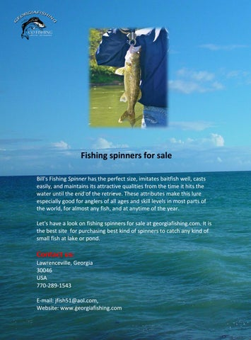 Fishing spinners for sale by Georgia Fishing - issuu