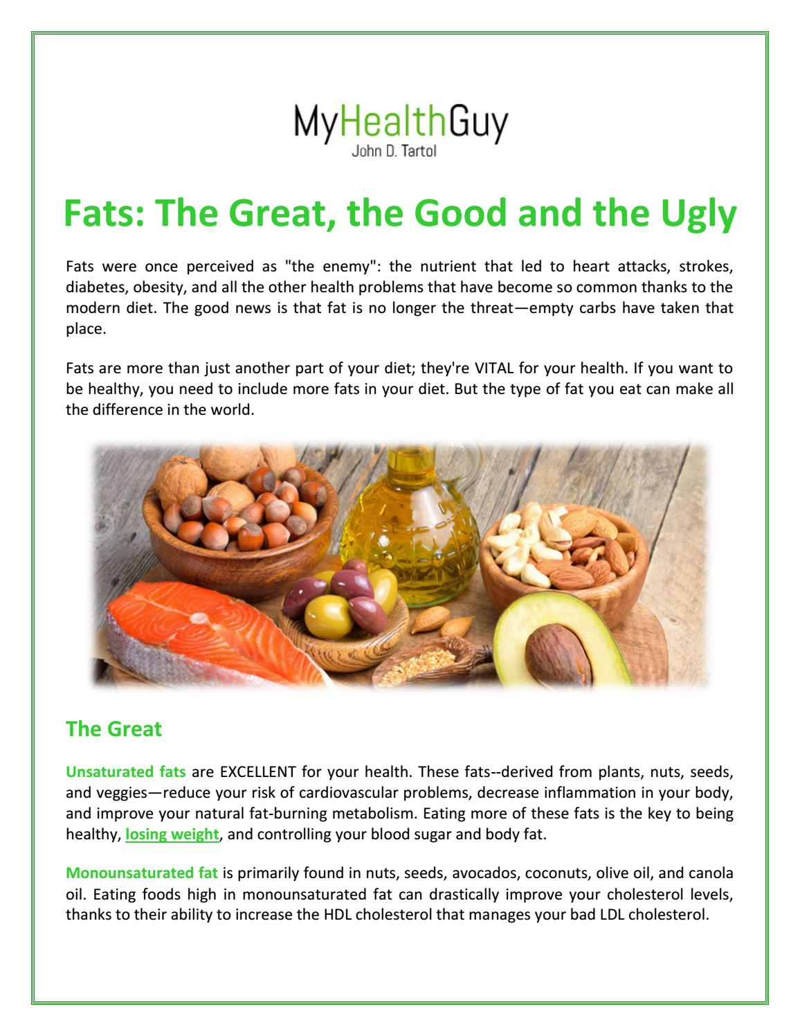 unsaturated fat lose weight
