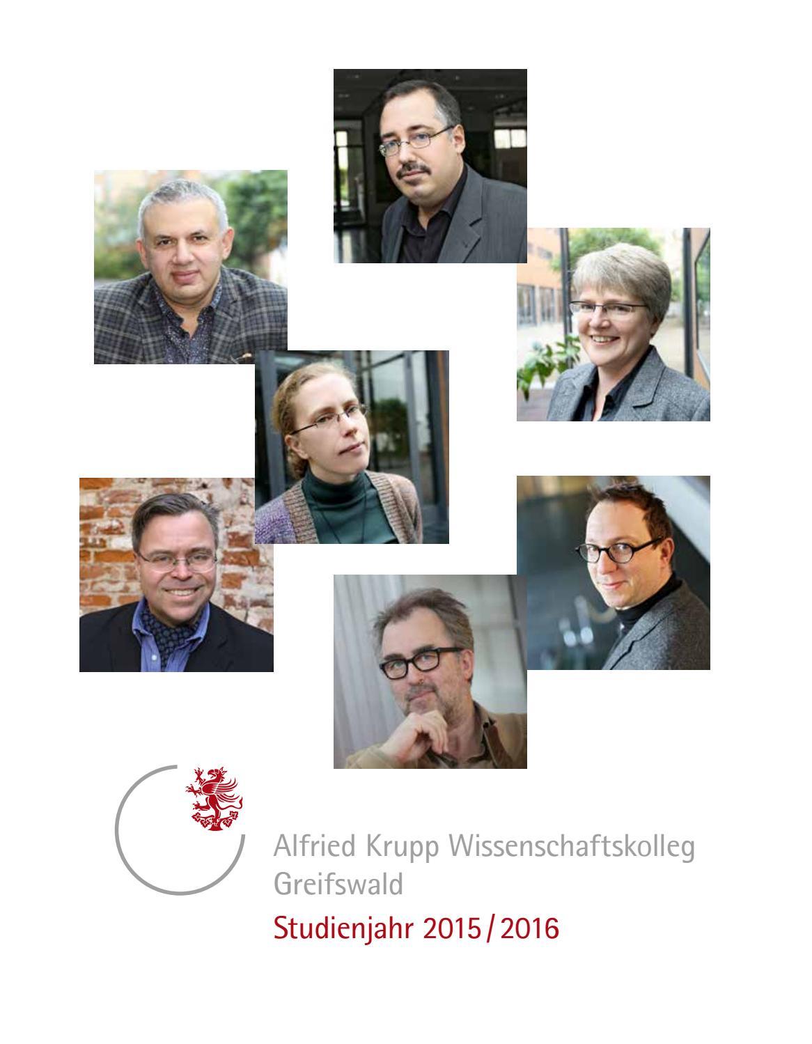 Studienjahrbuch 2015/16 by Alfried Krupp Wissenschaftskolleg ...