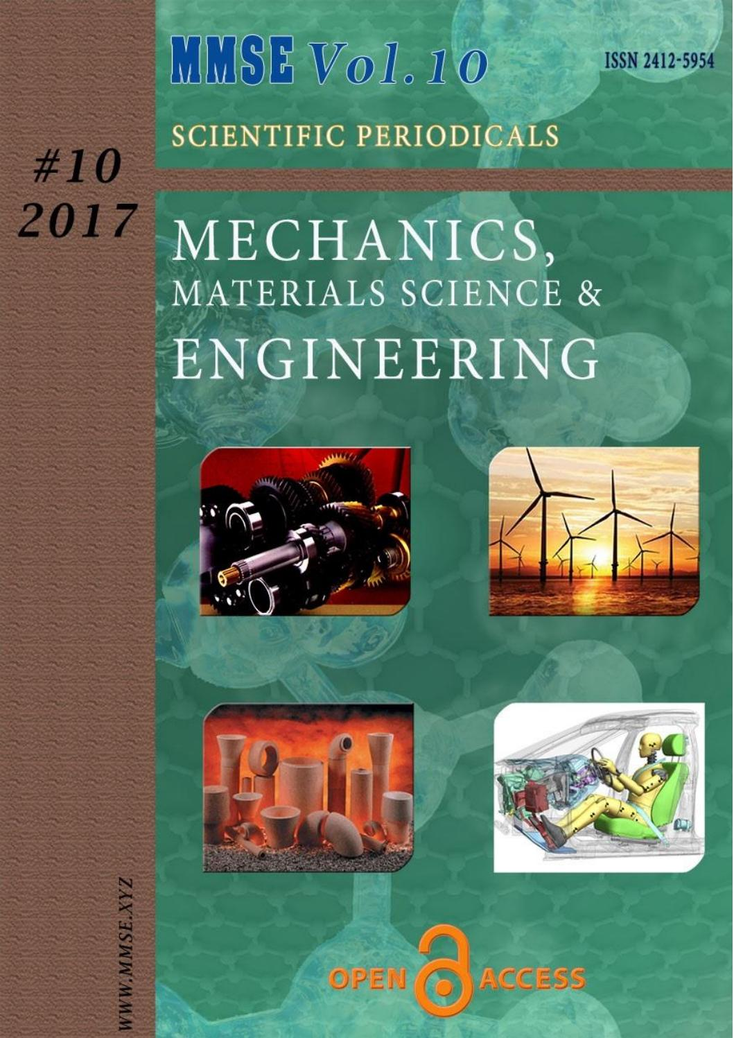 Mechanics, Materials Science & Engineering by MMSE Journal