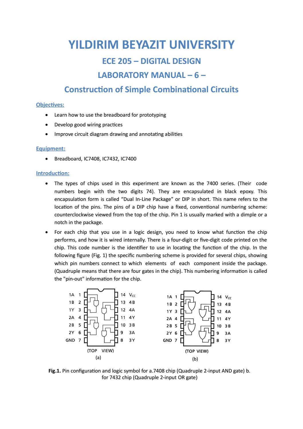 Ee205 Lab Manual 4 1 By Van N Gassa Issuu 7400 Quad 2input Nand Gate Pin Layout