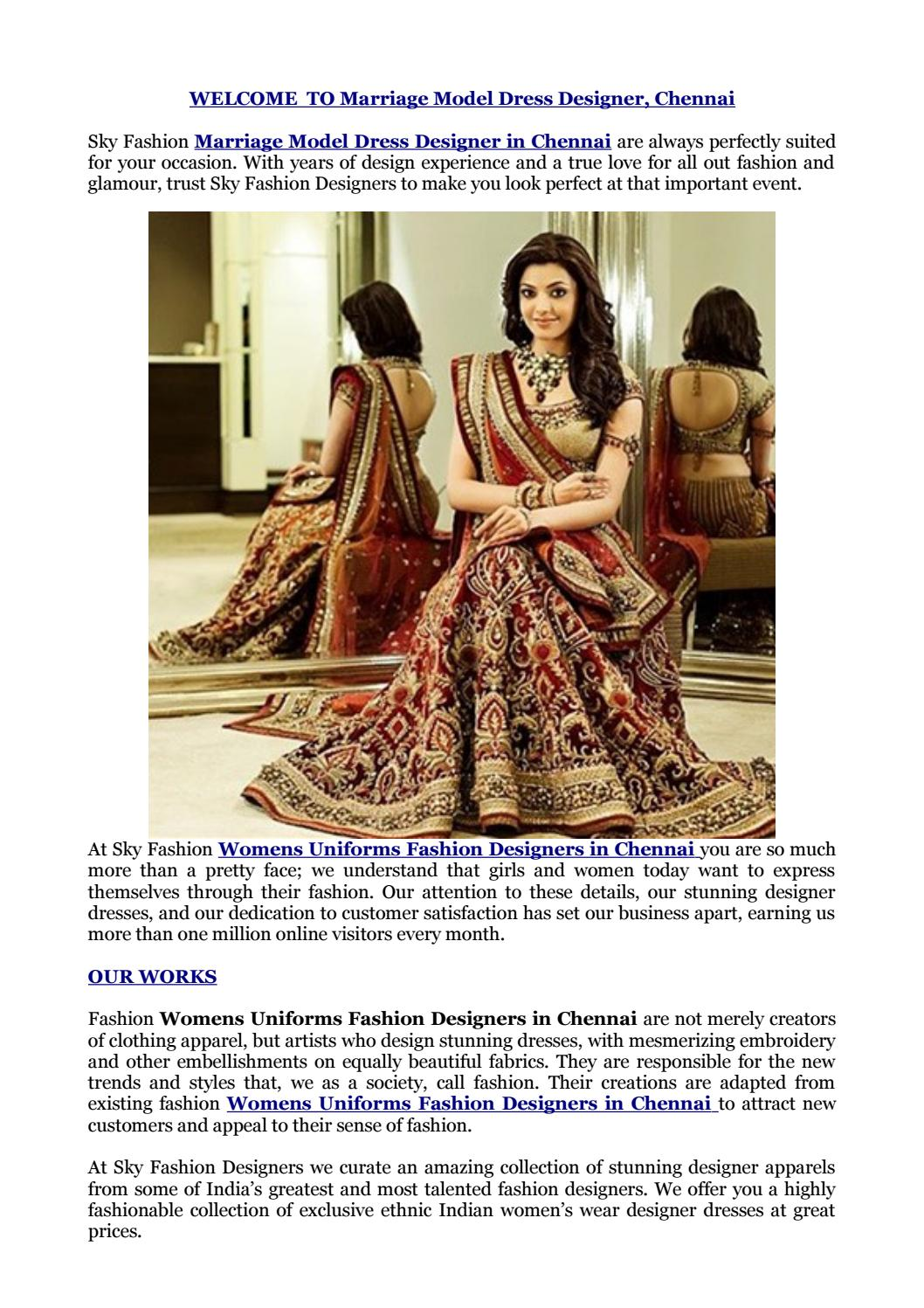 Marriage Dress Designer In Chennai By Justseemobileapp Issuu