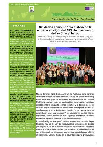 new arrival a50e1 0ccd5 Boletín XXVI junio 2017 by Nueva Canarias - issuu