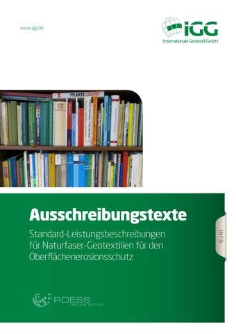 Www.igg.de. Ausschreibungstexte INFO